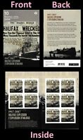 Canada 3050a BK685 Halifax Explosion 'P' booklet 10 MNH 2017