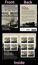 Canada Halifax Explosion permanent booklet 10 MNH 2017