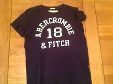 ABERCROMBIE and FITCH homme petit T Shirt Muscle Bleu Marine