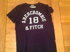 Abercrombie and Fitch Mens camiseta Azul Marino Muscular pequeño