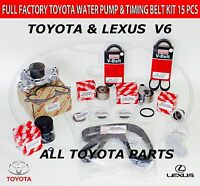 NEW OEM ALL TOYOTA LEXUS TIMING BELT KIT 3.0 & 3.3L V6 1MZFE  3MZFE NOT CHINESE