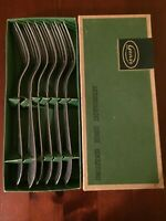 Vintage Gense Swedish Scandi Designer Cutlery 6 Forks Stainless Steel Rostfria