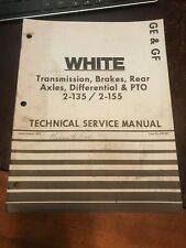 White 2 135 2 155 Tractor Brakes Pto Axle Transmission Technical Service Manual