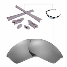 WL Polarized Titanium Replacement Lenses And Rubber Kit For Oakley Flak Jacket