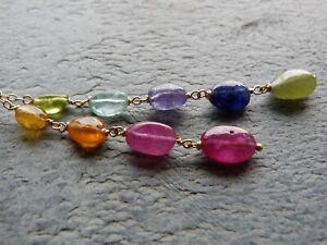 Pendant Gold 18 CT, Stones Precious, (Ruby, Sapphires)