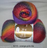 5,50€ / 100 gr RELLANA Sockenwolle 4-fach / 4-fädig  KOLIBRI mit Farbverlauf