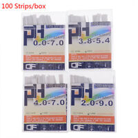 100Strips/box pH Test Strips Full Range Scale Premium Litmus Tester Papers Ideal