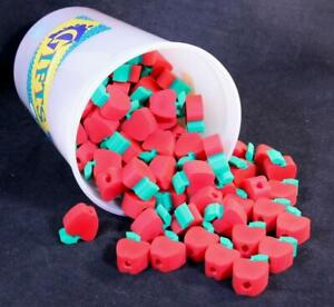 Vintage Dickson's Pencil Top Apple Erasers. Container of 144 Erasers Total