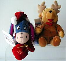 Disney~Santa Eeyore & Reindeer Pooh~Mini BB Set