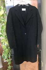 Sandro sz M Black Wool Felt 1 Button Top Coat