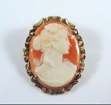 .585 Yellow Gold Cameo Pin / Brooch & Pendant