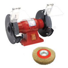"Sealey 150mm 6"" 150w Bench Grinder With Twin Grinding Stones 6"" Wire Wheel"