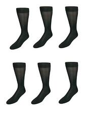 New Windsor Collection Men's Silk Mid Calf Dress Socks (Pack of 6)