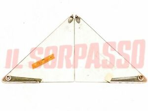 Glass Deflector Right+Left Fiat 124 Coupe 2 3 Series Green Used