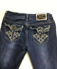 Miss Chic Womens Denim Bling Embelished Jeans Size 3