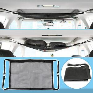 Car Roof Ceiling Cargo Net Pocket Mesh Storage Adjustable Bag for Van SUV Pouch