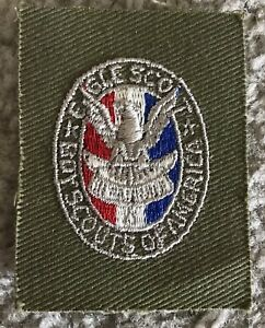 Vintage 1930s Boy Scout BSA Eagle Square Patch