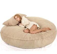 Large Beanbag Adult Suede Lounge Lazy Living Room Dorm Bedroom Chair