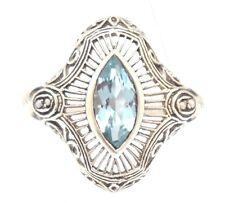 Anelli di lusso con gemme blu, con Misura anello 18