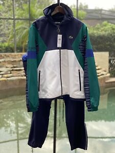 LACOSTE SPORT HOODED COLORBLOCK TRACKSUIT LARGE WH8612