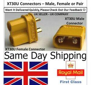 Amass XT30U XT Connectors Pair Pairs Male Female XT-30U Battery lipo ESC RC UK