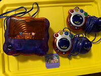 WORKS! Vtech Vsmile Console Tv Learning System 1Game 2Controllers *NO POWER CORD