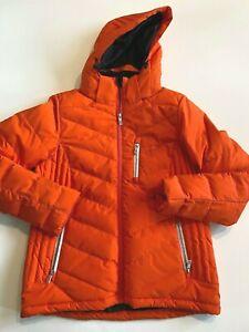 Liquid Jacket Women's Medium New Insulated Quilted Tangerine Skiing/Snow Coat
