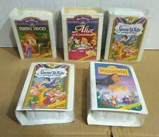 McDonalds Happy Meal Walt Disney Masterpiece Toy Lot x5 Snow White Pocahontas