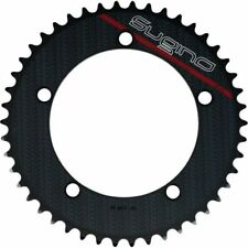 SUGINO COOL MESSENGER CHAINRINGS BLACK - 44T or 46T or 48T