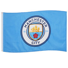 Manchester City FC Official Football Gift 5x3ft Crest Body Flag