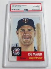 2018 Topps Living #75 Joe Mauer Card Graded PSA 10 Gem Mint Sold Out