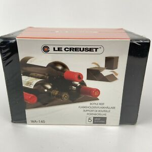 Le Creuset Wine Cube Bottle Rest Black WA-145 Sealed Great Gift Idea