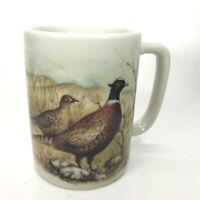 Vintage Otagiri Pheasant Bird Mug Tan Brown Handcrafted Ceramic Japan Cup C23