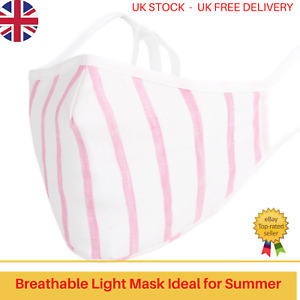 Face Mask w/ Filter Pocket, bamboo fibre layer - 3D Max COMFORT - White Pink