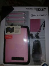 Nintendo DS DSi Folio Starter Kit Carrying Case Headset Car Charger Stylus New