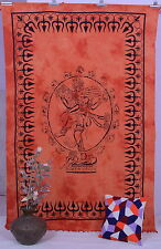 Indian Cotton Lord Shiva Wall Tapestry Hanging Bedspread Throw Twin Size Blanket