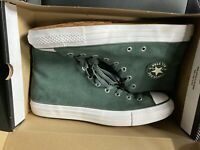 Converse Mens CTAS Pro Hi Perforated Suede 159512C Green/Egret/White Sz12