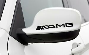 5x AMG Decal Stickers for Mercedes Car Window Bumpers Side Mirror Brake Caliper