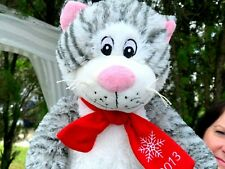 VERY RARE Pacific Coast 2013 Christmas Cat Kitty Kitten Plush Stuffed Animal Toy