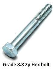 Qty 20 Hex Bolt M12 (12mm) x 130mm Zinc Plated High Tensile Class 8.8 Set Screw