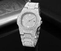 Nautilus Iced Diamond Homage Hip Hop Bling Watch Luxury