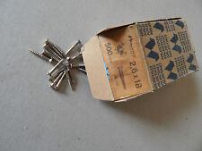 500 VITI 2,6 x 18 TESTA A TGS IN FERRO NICHELATO DA LEGNO,nikelate iron screws