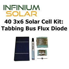 40 3x6 Solar Cell Kit w/ Tabbing, Bus, Flux, Diode DIY 70W Solar Panel Not China