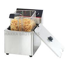 Hakka 6l Commercial Electric Deep Fryer Stainless Steel Restaurant Tabletop