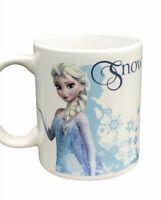 Disney Frozen, Elsa Snow Queen White & Blue Coffee Mug Cup