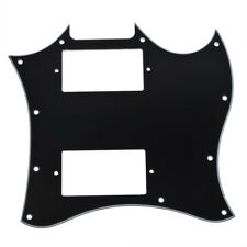 3 Ply Pickguard Full Face Double Pickup Guitar Scratch Plate for Gibson SG Black