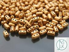 10g Czech Rulla Twin Beads Pale Gold