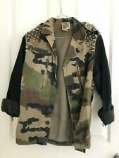 The Ragged Priest Camo Studded Jacket Size S