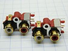 Connettore RCA STEREO femmina professionale dorato industrial grade (n.2 pezzi)