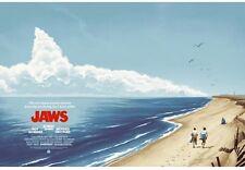 Jaws AP Phantom City Creative Mondo Movie Poster PCC Quint Spielberg Durieux